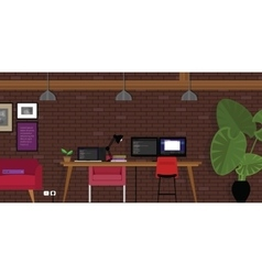 start-up open works-pace co-working office vector image