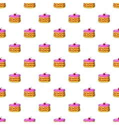 Cake pattern cartoon style vector