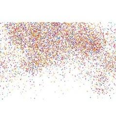 confetti white rectangle vector image