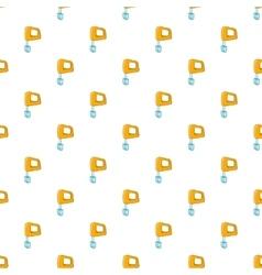Mixer pattern cartoon style vector