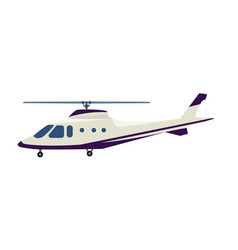 Passenger helicopter isolated icon vector