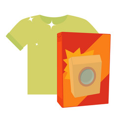 washing powder for colored things icon cartoon vector image