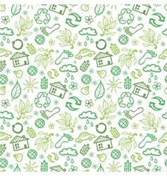 Ecology symbols seamless pattern background vector