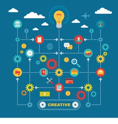Business idea - infographic concept vector