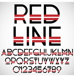 Black and red font with numbers vector