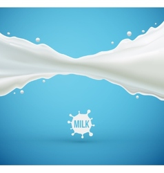 Milk splash vector