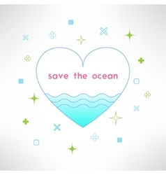 Save the ocean background in modern flat vector