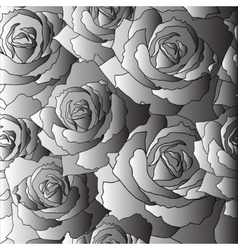 Seamless pattern of the stylised roses vector image
