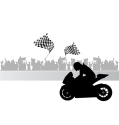 motorcycle race vector image