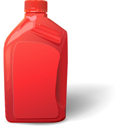 Blank red plastic canister for motor oil vector
