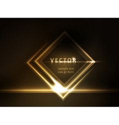 Golden glowing frame vector