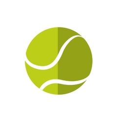 Tennis ball icon sport concept graphic vector