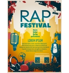 Hip hop poster vector