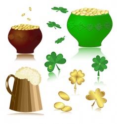 beer pot gold vector image