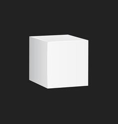 Blank white carton 3d box icon box package mockup vector