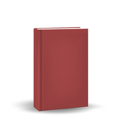book in a realistic 3d style mock-up for your vector image