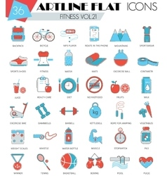 Fitness sport and health ultra modern vector image vector image