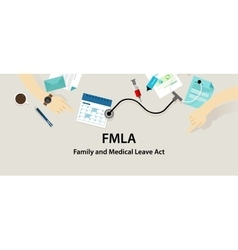Fmla family and medical leave act vector
