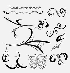Hand drawn elements vector