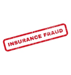 Insurance fraud text rubber stamp vector