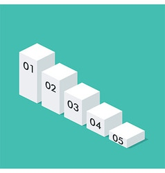 Isometric chart template layout for business vector