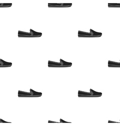 Moccasin icon in black style isolated on white vector