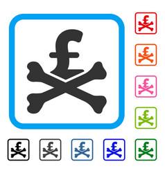 Mortal pound debt framed icon vector