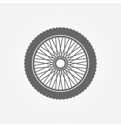 Motorcycle wheel logo vector image