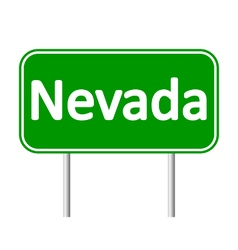 Nevada green road sign vector