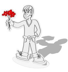 paper boy vector image vector image
