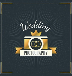 Photography Logo Design Template Photography Retro vector image