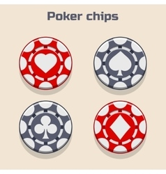Poker Chips suit vector image vector image