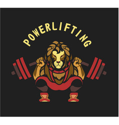 powerlifting barbell squat vector image vector image
