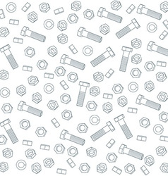 Seamless nuts and bolts vector image vector image