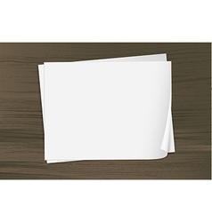 Two empty sheets of bondpapers vector image vector image