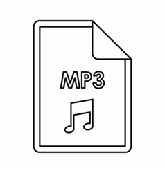 Mp3 audio file extension icon outline style vector
