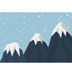 Three mountain peak vector