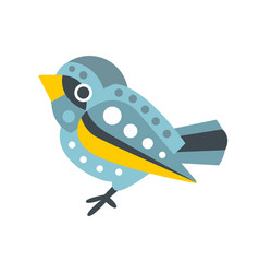 Cute small sparrow bird colorful cartoon character vector