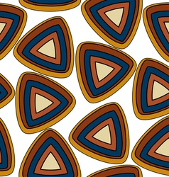 Seamless pattern with triangular elements vector