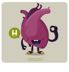 Heart character vector