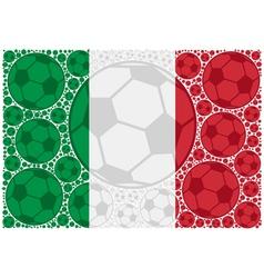 Italy soccer balls vector image