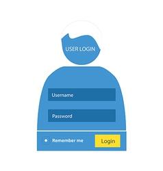 User login 52 vector image
