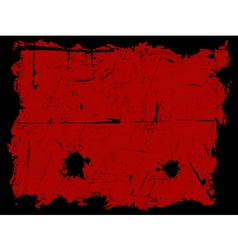 Black and red grunge border vector