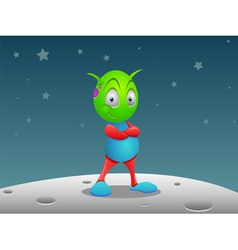 alien on the moon vector image