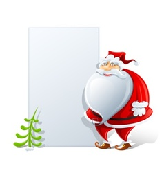 Happy santa claus with paper vector