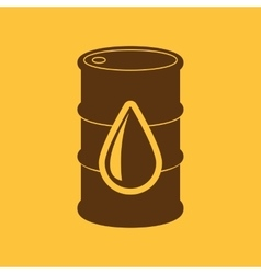 The barrel icon cask and oil gasoline petrol vector