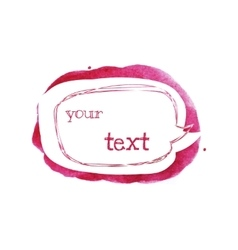 Sketch style speech bubble on bright pink spot vector
