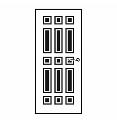 Front door icon in simple style vector