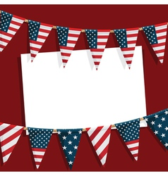 Usa party card vector