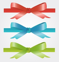 Christmas and holiday bow red blue and green vector image
